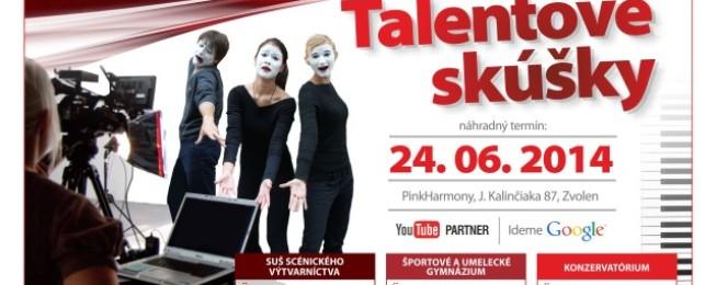 Náhradný termín talentových skúšok 24. 6. 2014