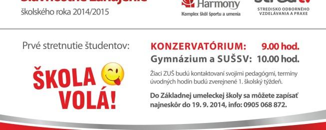 Slávnostné zahájenie šk. r. 2014/2015