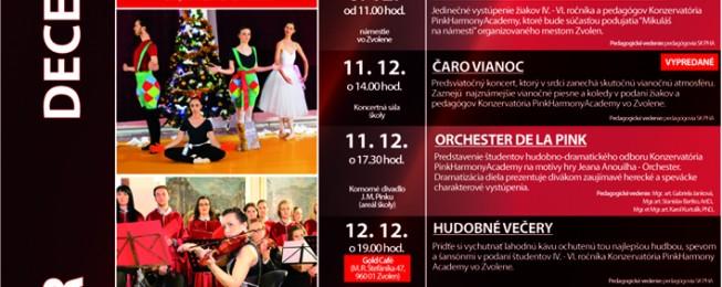 Program podujatí, predstavení a koncertov na mesiace december 2014 a január 2015