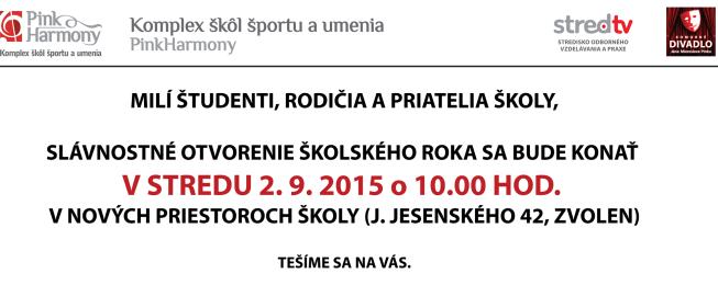 Slávnostné otvorenie šk. roka 2015/2016