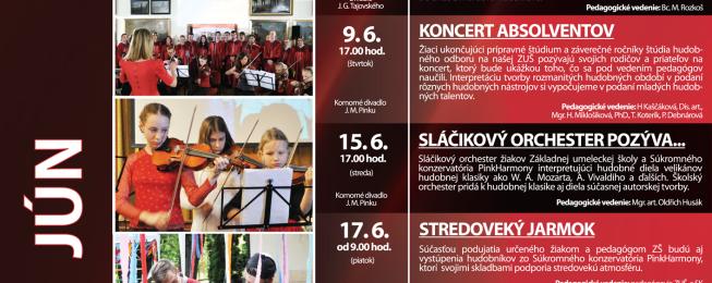 Program predstavení na jún 2016