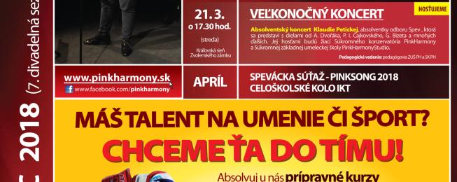 Program predstavení a podujatí na marec 2018