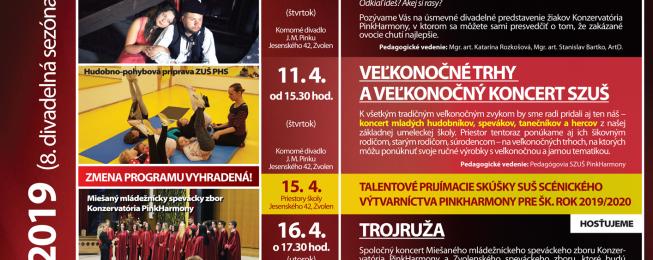Program podujatí na apríl 2019