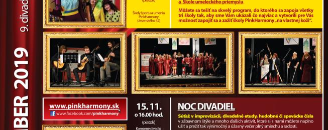 Program predstavení na november 2019
