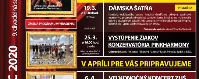 Program KDJMP na marec 2020